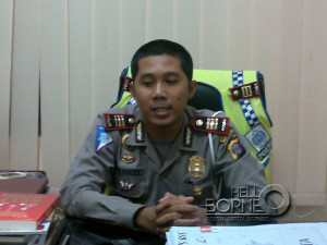 Kasatlantas Polres PPU, AKP Seto Handoko (Bagus Purwa - Hello Borneo)