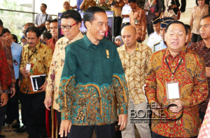 Presiden RI Joko Widodo usai memimpin Rakornas TPID  daerah provinsi, kabupaten dam kota seluruh Indonesia (Subur - Hunas Setkab Penajam Paser Utara)