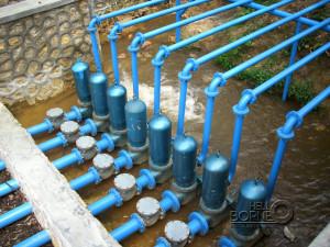 Pompa Air Tanpa Motor (PATM) di Desa Tengin Baru Mangkrak