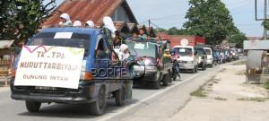 Iring-iringan peserta pawai Gebyar Ramadan di Kecamatan Babulu, Kabupaten Penajam Paser Utara (Iskandar - Humas Setkab Penajam Paser Utara)