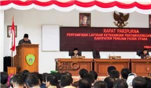 Rapat Paripurna Laporan Keterangan Pertanggung Jawaban Tahun Anggaran 2014
