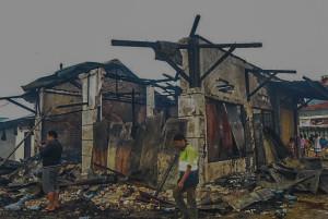 Kondisi kebakaran Pasar Tertua di Sotek saat ini. (Ist)