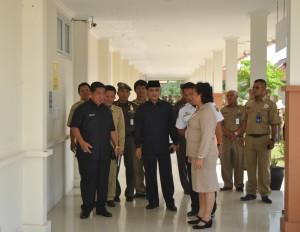 Bupati Yusran Aspar dan Wakil Bupati Mustaqim MZ lakukan inspeksi mendadak ke RSUD Penajam Paser Utara (Dika - Hello Borneo)