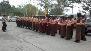 32 Pramuka Penggalang Kwarcab Gerakan Pramuka Penajam Paser Utara yang akan mengikuti Jambore Pramuka Daerah Kaltim 2015 (Bagus Purwa - Hello Borneo)