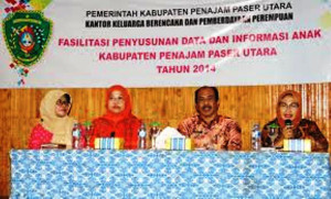 Kantor Keluarga Berencana dan Pemberdayaan Perempuan Kabupaten Penajam Paser Utara, mefasilitasi penyusunan data dan informasi anak (Subur Priono - Setkab Penajam Paser Utara)