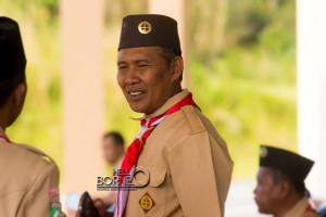 Wakil Andalan Kwarcab Gerakan Pramuka Bidang Organisasi dan Hukum Kabupaten Penajam Paser Utara sekaligus Ketua Panitia Pelaksana Perkemahan HUT Pramuka ke-54, Suyanto (Suherman - Hello Borneo).