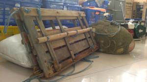 Alat tangkap pukat dogol atau pukat kantong  diamankan Dinas Kelautan dan Perikanan Kabupaten Penajam Paser Utara (Bagus Purwa - Hello Borneo)