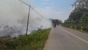 Badan Penanggulangan Bencana Daerah (BPBD) Kabupaten Paser terus melakukan operasi darurat asap di setiap titik api
