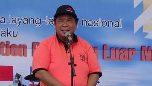 Bupati Penajam Paser Utara, Yusran Aspar membuka Festival Layang-Layang Benuo Taka 2015 di Pantai Corong, Kabupaten Penajam PAser Utara (AH Ari B - Hello Borneo)