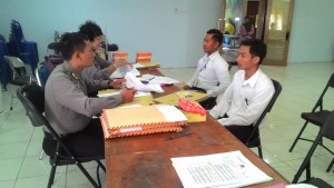 POLISI. 13 Pemuda Paser ikut seleksi Brigadir Polisi. (Rapal JKN - Hello Borneo)