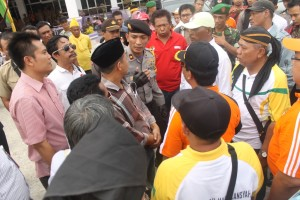 Kampanye Damai Pilkada Paser sempat ricuh sesaat. (Rapal JKN - Hello Borneo)