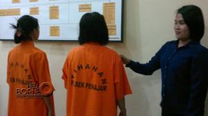 Dmt dan Adh tersangka kasus narkoba berhasil diringkus anggota Unit Reskrim Polsek Penajam, Kabupaten Penajam Paser Utara (Bagus Purwa - Hello Borneo)