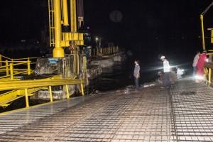 Salah satu Jembatan MB (moveable bridge) atau jembatan gerak Pelabuhan Feri Kabupaten Penajam Paser Utara rusak (Suherman - Hello Borneo)