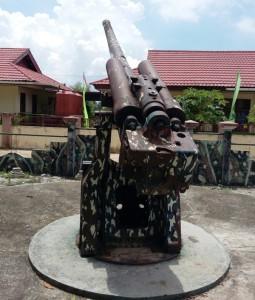Meriam. Bukti sejarah perang di Kabupaten Penajam Paser Utara. (Subur Priono - Humas Setkab PPU)