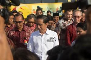 Presiden Joko Widodo saat melakukan kunjungan ke Kabupaten Penajam Paser Utara, Kalimantan Timur. (Elim Sahara - Hello Borneo)