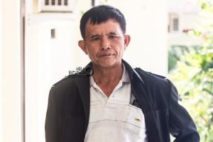 Ketua SBSI Kabupaten Penajam Paser Utara , Darwis Sihombing. (Suherman - Hello Borneo)