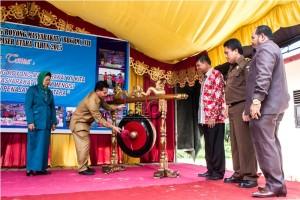 Penutupan Bulan Bakti Gotong Royong Masyarakat ke-12 di Desa Sidorejo Kecamatan Penajam, Kabupaten Penajam Paser Utara (Suherman - Hello Borneo)