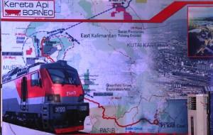 Proyek pembangunan Kereta Api Borneo. (Subur - Humas Setkab PPU)