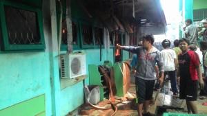 Lab SMA Muhamadiyah Kabupaten Paser terbakar. (Rapal JKN - Hello Borneo)