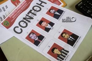 Contoh surat suara yang di cetak oleh Kecamatan Penajam untuk Pilkades (Suherman - Hello Borneo)