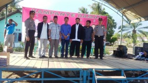 Lima calon kepala desa yang akan bertarung di Pilkades Desa Girimukti, Kecamatan Penajam, ikuti kampenye damai (Alpian - Humas Setkab Penajam Paser Utara)