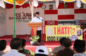 Wabup Penajam Paser Utara, Drs Mustaqim MZ MM resmikan Pos Kawan. (Subur - Humas Setkab PPU)
