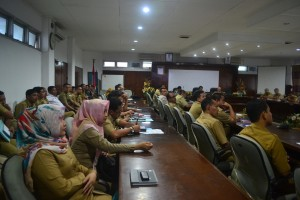 Launching lelang barang dan jasa pemerintah Kabupaten Paser berlangsung di ruang rapat Sadurengas. (N Sya)