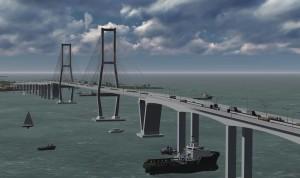 Gambar rencana jembatan penghubung Penajam Paser Utara-Balikpapan (dok. Humas Setkab Penajam Paser Utara)