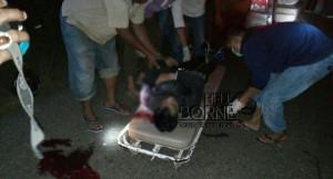 Korban kecelakaan lalu lintas yang melibatkan dua sepeda motor tewas di lokasi kejadian (Rapal JKN - Hello Borneo)