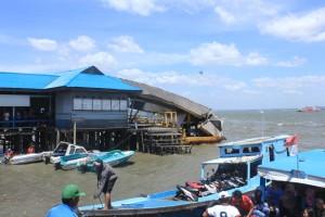 """Pelabuhan """"Speedboat"""" milik Dishubbudpar Kominfo Kabupaten Penajam Paser Utara"""