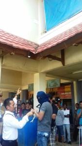 Pra rekontruksi TKP kasus curat di Kandilo Plaza, Kabupaten Paser (Rapal JKN - Hello Borneo)