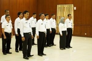 Proses pengambilan sumpah janji dan pelantikan pejabat struktural eselon II,III, dan IV di lingkungan Pemerintah Kabupaten Penajam Paser Utara (Suherman - Hello Borneo).