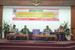 Kesbangpol Paser gelar kegiatan sosilisasi Undang-Undang Ormas. (MR Saputra - Hello Borneo)