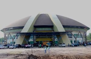 Gedung olahraga merupakan salah satu dari beberapa gedung di Kabupaten Penajam Paser Utara, yang hingga saat ini belum memiliki nama (Subur Priono - Humas Setkab Penajam Paser Utara)