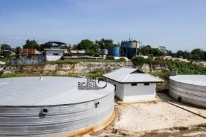 Istalasi pengolahan  air bersih atau WTP PDAM Kabupaten Penajam Paser Utara (Suherman - Hello Borneo)