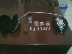 Barang bukti yang berhasil disita Polsek Babulu dari tangan pelaku penyalahgunaan dan peredaran narkoba (Ist)