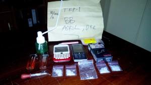 Barang bukti yang berhasil disita Satuan Reserse Narkoba Polres Penajam Paser Utara, dari tangan tersangka AS dan Arl (AH Ari B - Hello Borneo)