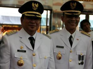 Bupati Penajam Paser Utara, Yusran Aspar dan Wakil Bupati Mustaqim Mz (Bagus Purwa - Hello Borneo)
