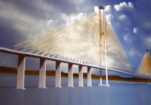 Gambar jembatan tol penghubung Penajam-Balikpapan (dok. Humas Setkab Penajam Paser Utara)