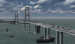 Maket  jembatan teluk penghubung dari Nipah-Nipah, Kabupaten Penajam Paser Utara ke Melawai, Kota Balikpapan (Subur Priono - Humas Setkab Penajam Paser Utara)