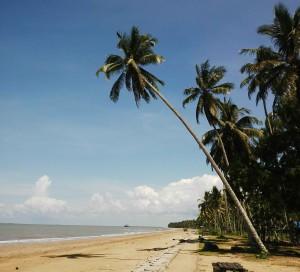 Pantai Corong, Kelurahan Tanjung Tengah, Kecamatan Penajam, sebagai pusat untuk menyaksikan gerhana matahari total di Kabupaten Penajam Paser Utara (Iskandar - Humas Setkab Penajam Paser Utara)