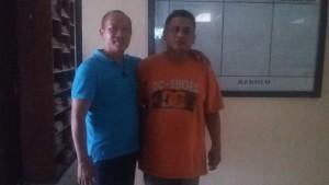 Pelaku penyalahgunaan dan peredaran narkoba (kanan) ditahan di Mapolsek Babulu (Ist)