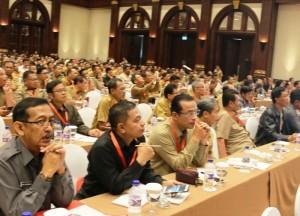 Wakil Bupati Penajam Paser Utara, Mustaqim MZ (ketiga dari kiri), hadiri Rakornas Rapat Koordinasi Nasional Tim Tim Terpadu Penanganan Konflik Sosial 2016 di Jakarta (Subur Priono - Humas Setkab Penajam Paser Utara)