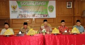 Wakil Bupati Penajam Paser Utara, Mustaqim MZ menghadiri  kegiatan Sosialisasi Optimalisasi Pengumpulan Zakat Dalam Rangka Pelaksanaan Pengelolaan Zakat (AH Ari B - Hello Borneo)