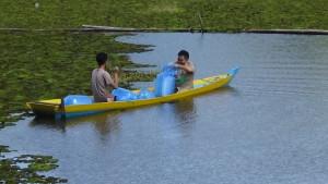 Dinas Kelautan Perikanan Kabupaten Penajam Paser Utara Sudah Tebar 151.000 Benih Ikan Nila. (AH Ari B - Hello Borneo)