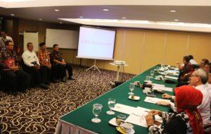 Empat pejabat di lingkungan Pemerintah Kabupaten Penajam Paser Utara, peserta lelang jabatan sekretaris kabupaten, menjalani tes wawancara (Subur Priono - Humas setkab Penajam Paser Utara)