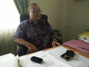 Kepala Bidang Bina Marga Dinas Pekerjaan Umum, Prasarana Wilayah dan Pemukiman Kabupaten Penajam Paser Utara, Edi Hasmoro. (AH Ari B - Hello Borneo)
