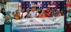 Kelompok Usaha Peningkatan Pendapatan Keluarga Sejahtera Kabupaten Penajam Paser Utara, mengikuti Kaltim Fair 2016 (Iskandar - Humas Setkab Penajam Paser Utara)