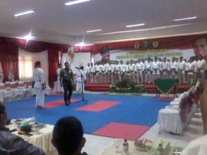 Panglima TNI Jendral TNI Gatot Nurmantyo yang juga Ketua Umum Federasi Olahraga Karate Indonesia (FORKI) Pusat melantik 77 orang pengurus FORKI Kaltim. (Ramadhanesia - Hello Borneo)