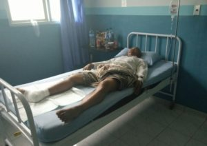 Samin warga Kabupaten Penajam Paser Utara, yang menjadi korban penyerangan buaya di Sungai Baru Angin di wilayah Mentawir, Kecamatan Sepaku (AH Ari B - Hello Borneo)